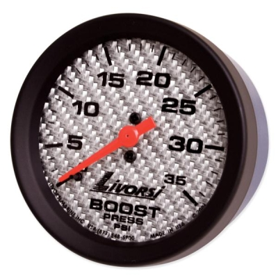 LIVORSI 2 5/8 RACE  SERIES BOOST GAUGE 0-35 PSI