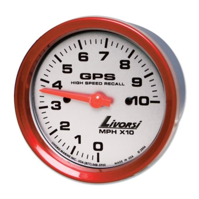 "LIVORSI 4 5/8"" RACE SERIES 100 MPH GPS SPEEDOMETER ONLY - GPSL100"