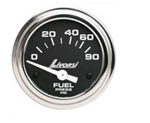 INDUSTRIAL SERIES  ELECTRIC FUEL PRESSURE LIVORSI GAUGE (0-90 PSI) - DCSFP90