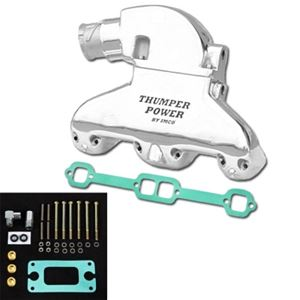 IMCO Thumper Power Small Block Manifold & Riser Kit Polished (Sold in pairs) - 02-8308